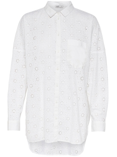 Only Blouse onlIRMA L/S OVERSIZED SHIRT WVN 15154329 Bright White
