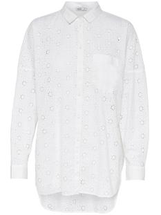 Only Blouse onlIRMA L/S OVERSIZED SHIRT WVN 15154329 Bright White