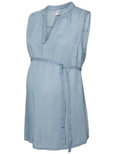 Mama-Licious Positie blouse MLNESLI S/L WOVEN TOP 20008376 Light Blue Denim
