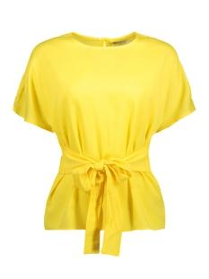 Pieces T-shirt PCGAIL SS TIE TOP CAMP 17088928 Lemon Zest