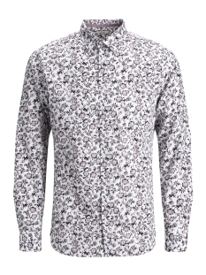 Jack & Jones Overhemd JPRRUSSEL PRINT SHIRT L/S PLAIN 12132336 White