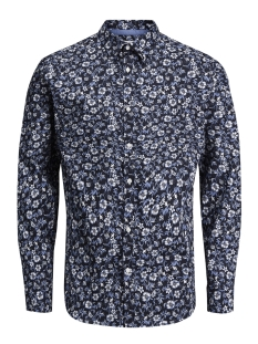 Jack & Jones Overhemd JPRRUSSEL PRINT SHIRT L/S PLAIN 12132336 Dark Navy