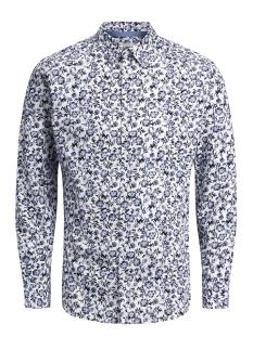 Jack & Jones Overhemd JPRRUSSEL PRINT SHIRT L/S PLAIN  12132336 Cashmere Blue
