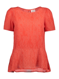Vero Moda Blouse VMCATE SS TOP GA 10197019 Poppy Red/STIK