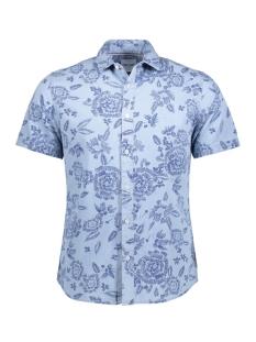 Only & Sons Overhemd onsTAPOR SS FLOWER AOP  DENIM SHIRT 22009019 Dark Sapphire