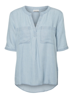 Noisy may Blouse NMHAYLIE ENDI 2/4 TENCEL SHIRT 3 27002688 Light Blue Denim