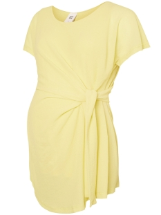 Mama-Licious Positie shirt MLELISTA S/S WOVEN TOP 20007127 Lemonade