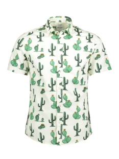 Only & Sons Overhemd onsCOOL SS FRESH SUMMER AOP SHIRT 22010145 Cloud Dancer