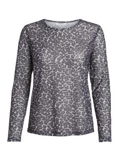 Pieces T-shirt PCAMELIA LS MESH TOP 17090982 Black/LEO