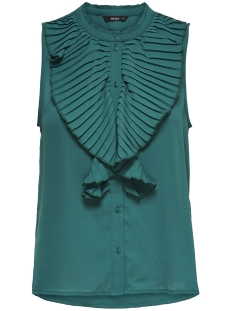 Only Top onlMILAN S/L PLEAT FLOUNCE SHIRT WV 15155843 Teal Green