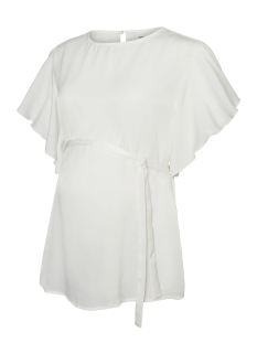 Mama-Licious Positie blouse MLLADY S/S WOVEN TOP 20008465 Bright White