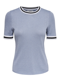 Only T-shirt onlKAMILLA 2/4 PULLOVER KNT 15140057 Celestial Blue/W