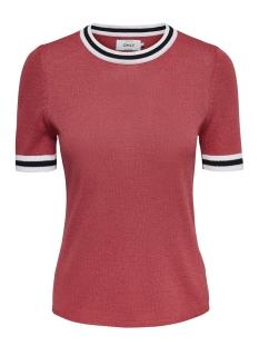 Only T-shirt onlKAMILLA 2/4 PULLOVER KNT 15140057 Cayenne/W MATCHING