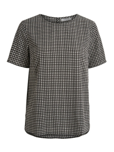 Pieces T-shirt PCINEA SS TOP PB 17087120 Black/ Gingham