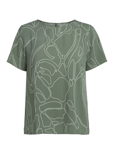Pieces T-shirt PCINEA SS TOP PB 17087120 Laurel Wreath/ARTESIC L