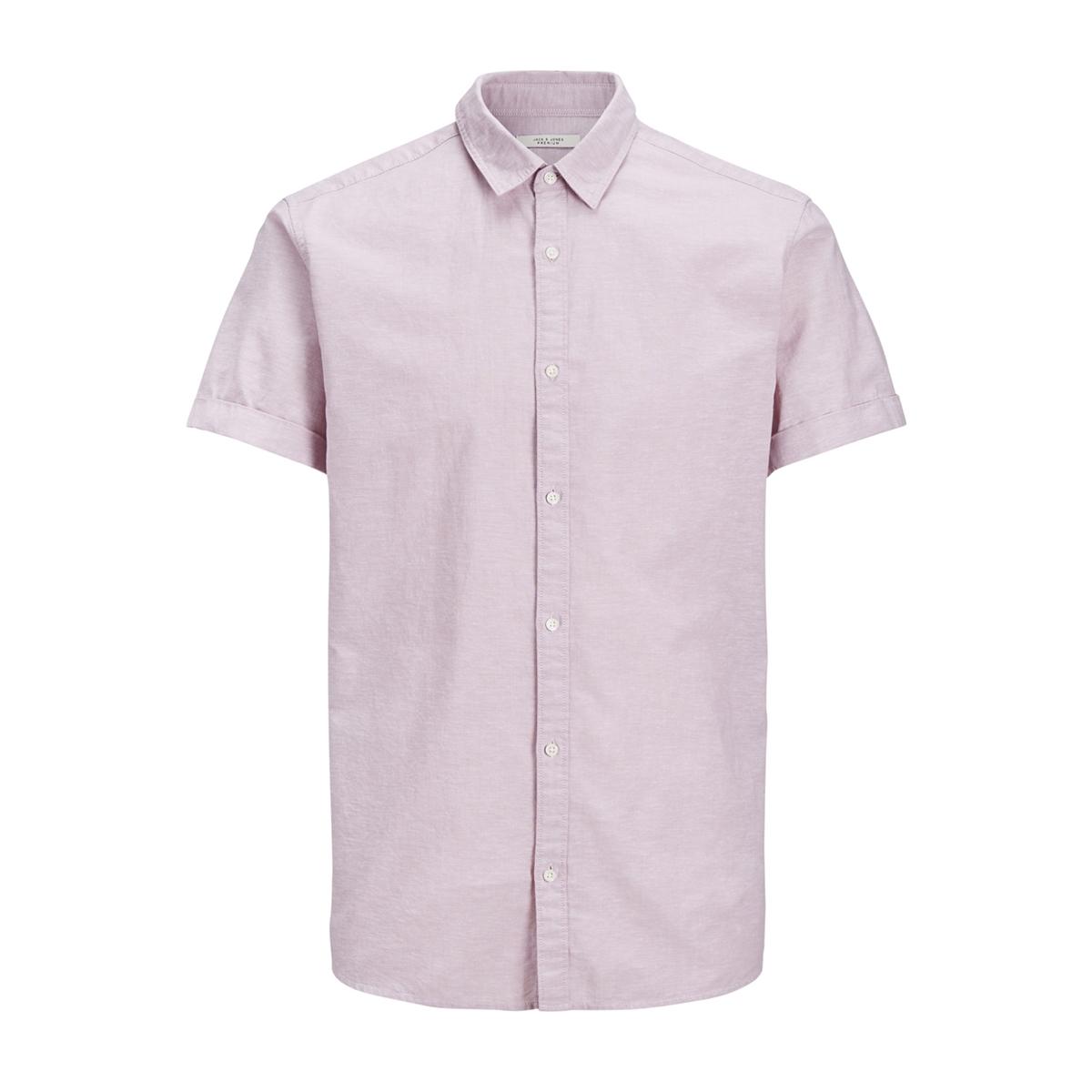 jprsummer color shirt ss reg collar 12136296 jack & jones overhemd lilas
