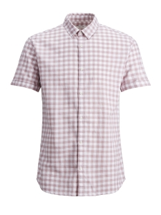 Jack & Jones Overhemd JPRSUMMER CHECK SHIRT SS REG COLLAR 12140871 Lilas