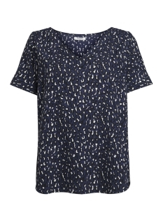 Pieces T-shirt PCMELANIE SS TOP FF 17092381 Maritime Blue