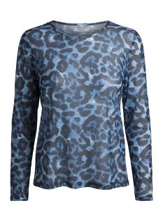 Pieces T-shirt PCAMELIA LS MESH TOP 17090982 Victoria Blue AOP/LEO