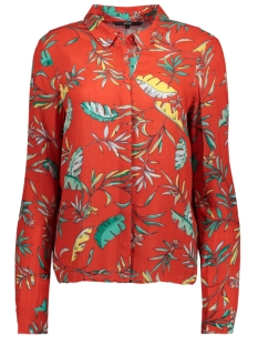 Vero Moda Blouse VMFRIDA PALM LS MIDI SHIRT FR LCS 10202362 Poppy Red
