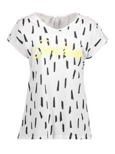Zoso T-shirt SASKIA WHITE/YELLOW