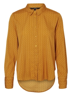 Vero Moda Blouse VMNICKY L/S SHIRT  D2-5 10201257 Thai Curry/DOTS