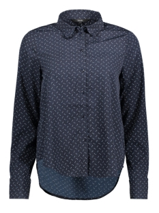 Vero Moda Blouse VMNICKY L/S SHIRT  D2-5 10201257 Night Sky/DOTS