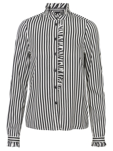 Vero Moda Blouse VMLIZETTE L/S REGULAR SHIRT D2-3 10197737 Snow White/BLACK