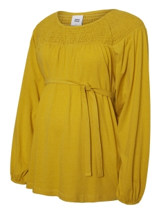Mama-Licious Positie shirt MLTRISH L/S JERSEY TOP A. 20008788 Lemon Curry