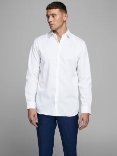 jprnon iron shirt l/s noos 12125792 jack & jones overhemd white/slim fit
