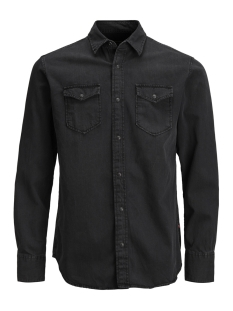 Jack & Jones Overhemd JJESHERIDAN SHIRT L/S NOOS 12138115 Black Denim/SLIM