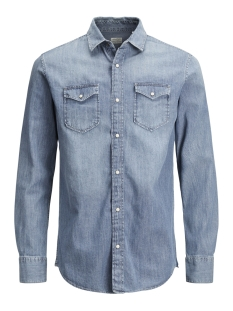 Jack & Jones Overhemd JJESHERIDAN SHIRT L/S NOOS 12138115 Medium Blue Denim/SLIM