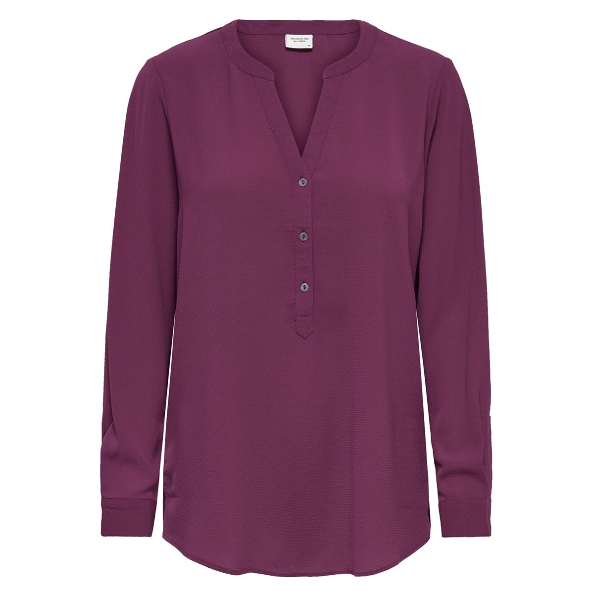jdytrack l/s blouse wvn noos 15149951 jacqueline de yong blouse red plum
