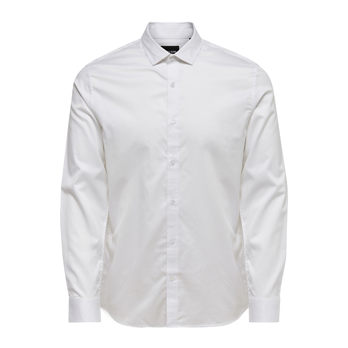 onsalves ls 2-ply easy iron shirt n 22009491 only & sons overhemd white