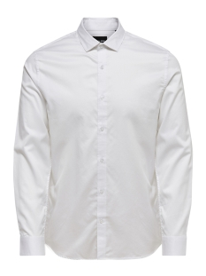 Only & Sons Overhemd onsALVES LS 2-PLY EASY IRON SHIRT N 22009491 White