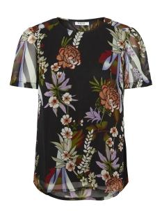Pieces T-shirt PCLILY SS TOP D2D 17094103 Black/FLOWER