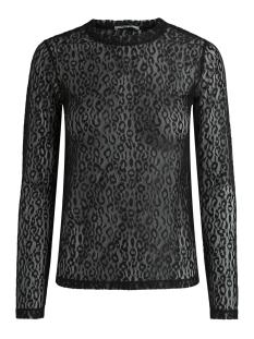 Pieces T-shirt PCTINE LS TOP DC 17091457 Black/LEO
