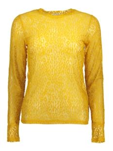 Pieces T-shirt PCTINE LS TOP DC 17091457 Nugget Gold/LEO