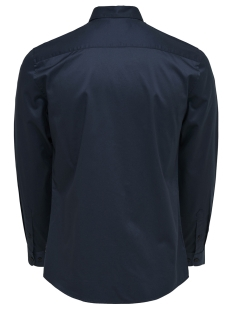 onsalves ls 2-ply easy iron shirt noos 22009491 only & sons overhemd dress blues
