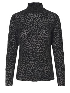 Pieces T-shirt PCTIBI LS MESH T-NECK TOP D2D 17093944 Black/BLC leo