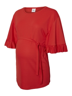 Mama-Licious Positie shirt MLMAIBRIT 3/4 JERSEY TOP 20008857 Chinese Red