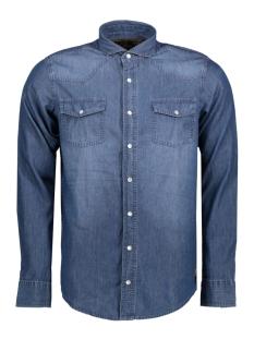 mu10-0104-1 haze & finn overhemd dark wash