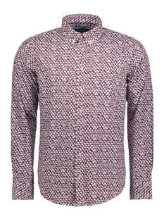 mc1001014 haze & finn overhemd 3d cube burgundy