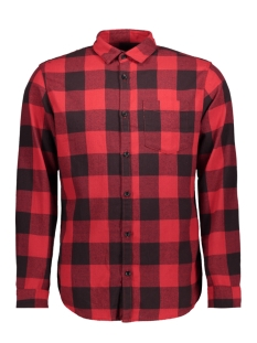 Jack & Jones Overhemd JORDYLAN SHIRT LS STS 12138283 Fiery Red/SLIM