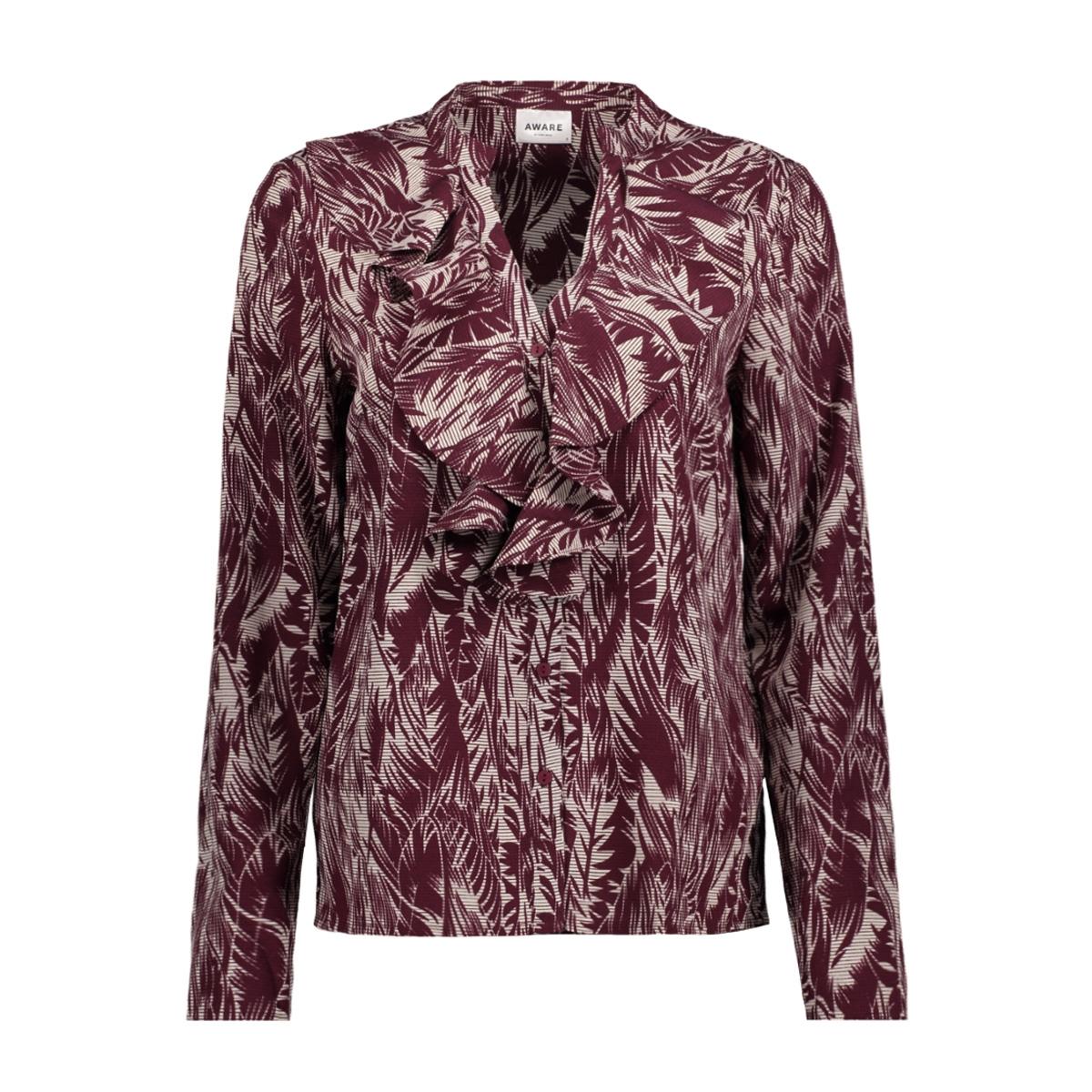 vmenjoy l/s v neck blouse ga 10202999 vero moda blouse eggnog/palm winetasting