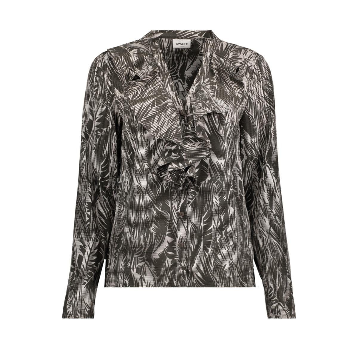 vmenjoy l/s v neck blouse ga 10202999 vero moda blouse eggnog/palm peat