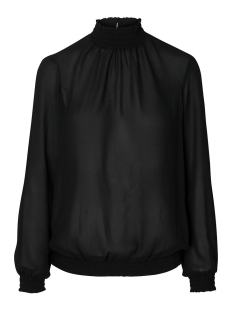 pcamalie smock ls top noos 17092409 pieces blouse black