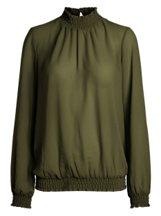 pcamalie smock ls top noos 17092409 pieces blouse winter moss