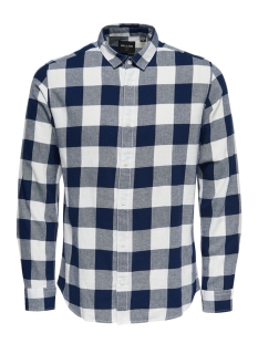 Only & Sons Overhemd onsGUDMUND LS CHECKED SHIRT NOOS 22007112 Maritime Blue