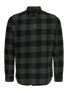 Only & Sons Overhemd onsGUDMUND LS CHECKED SHIRT NOOS 22007112 Forest Night